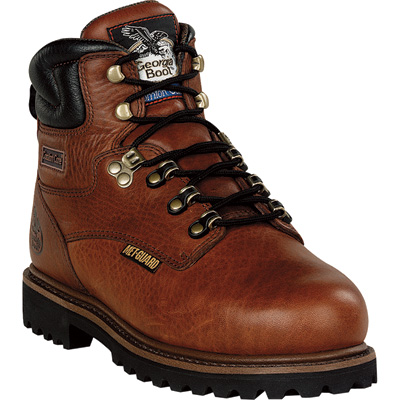 Georgia Men's 6in. Internal Metatarsal CC Steel Toe Work Boots - Greasy Briar, Size 9, Model# G6315