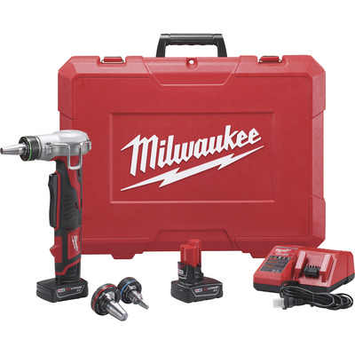FREE SHIPPING — Milwaukee M12 ProPEX Expansion Tool Kit — With 2 Batteries, 12 Volt, Model# 2432-22XC
