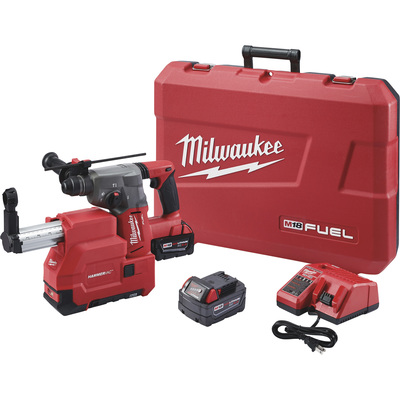 FREE SHIPPING — Milwaukee Fuel 1 1/8in. SDS Plus Rotary Hammer Tool Kit — With 2 Batteries, 18 Volts, Model# 2715-22E