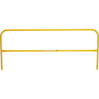 Safety Rail Company Mobile Safety Rail— Yellow, 10ft.L, Model# 400009