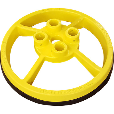 Safety Rail Company Mobile Base — Yellow, 21.81in. Diameter x 6in.H, Model# 420801