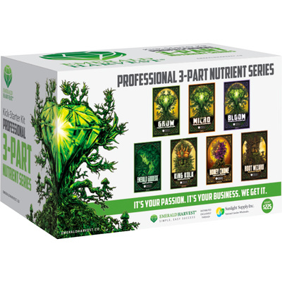 Sunlight Supply Emerald Harvest Professional 3-Part Nutrient Series Kit