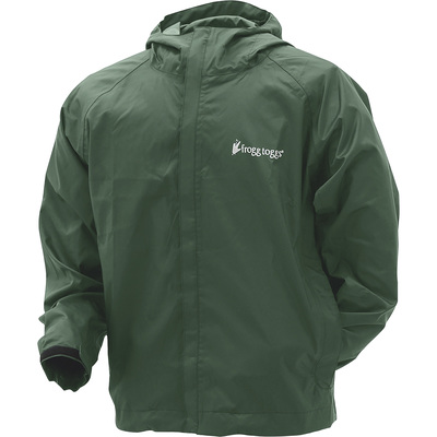 Frogg Toggs Men's Stormwatch Rain Jacket — Green, Large, Model# SW62123-09LG