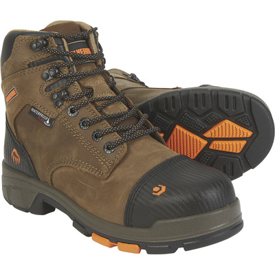 FREE SHIPPING — Wolverine Men's Blade LX 6in. Waterproof Composite Toe Work Boots - Brown, Size 14, Model# W10653
