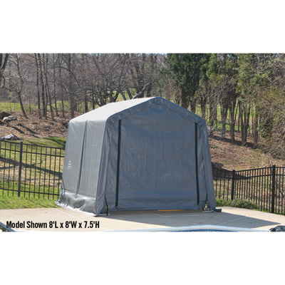 ShelterLogic Ultra Shed — Peak Style, 12Ft.L x 11Ft.W x 10Ft.H, Model# 71813