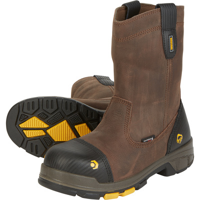 Wolverine Men's Blade LX 10in. Waterproof Composite Toe EH Wellington Work Boots — Brown, Size 8 1/2, Model# W10650