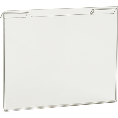 Econoco Clear Acrylic Horizontal Signholder for Slatwall or Wire Grid Panels — 7in.W x 5 1/2in.H, Model# HP/SG57H