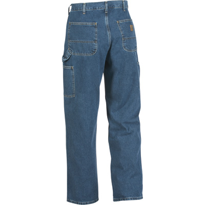 Carhartt Men's Washed Denim Work Dungaree - Deep Stone, 31in. Waist x 32in. Inseam, Regular Style, Model# B13