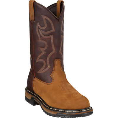 Rocky Men's 11in. Branson Roper Steel-Toe EH Western Boot - Brown, Size 8 Wide, Model# 6732