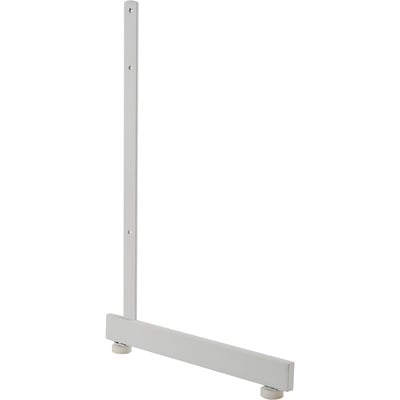 Econoco L-Shaped Leg for Gridwall — White, 12 3/4in.L x 19 1/2in.H, Model# GL512/W