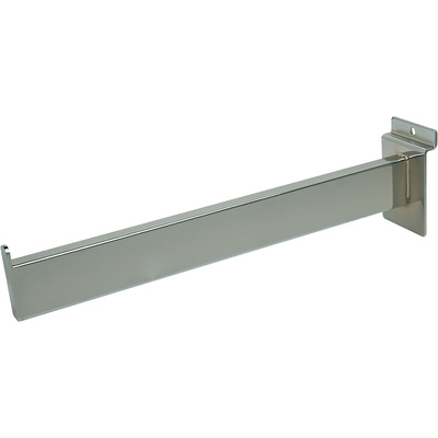 Econoco Rectangular Tubing Faceout for Slatwall — Satin Chrome, 12in.L, Model# RW/12-SC