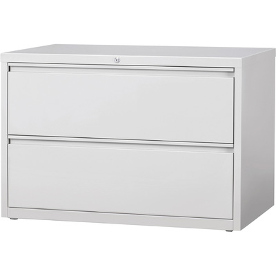 Hirsh Industries 2-Drawer File for Letter-, Legal- or A4-Size Files — Gray, 42in.W x 18.63in.D x 28in.H, Model# 17458