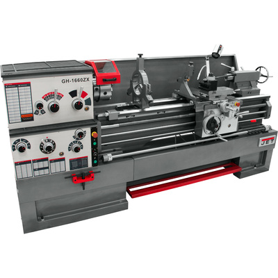 FREE SHIPPING — JET ZX-Series Large Spindle Bore Lathe with Acu-Rite 203 DRO — 16in. x 60in., Model# GH-1660ZX/321455