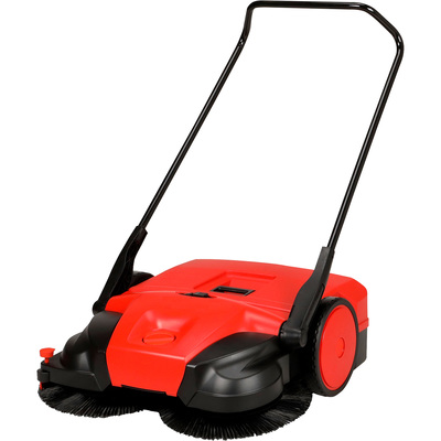 Bissell Big Green Commercial 31in. Deluxe Battery-Powered Sweeper — 13.5-Gallon Capacity, 12 Volt, Model# BG677