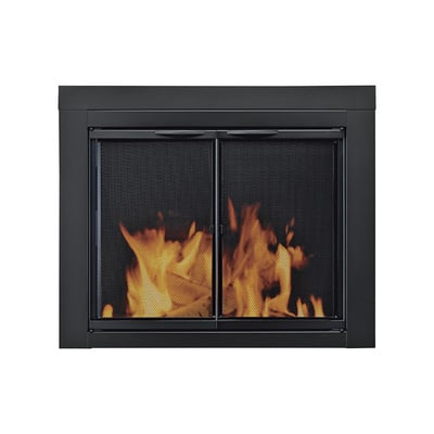 Pleasant Hearth Alpine Fireplace Glass Door — For Masonry Fireplaces, Large, Black, Model# AN-1012