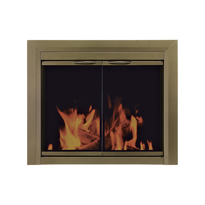 Pleasant Hearth Cahill Fireplace Glass Door — For Masonry Fireplaces, Large, Antique Bronze, Model CA-3202