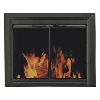 Pleasant Hearth Carlisle Fireplace Glass Door — For Masonry Fireplaces, Medium, Black, Model CL-3001