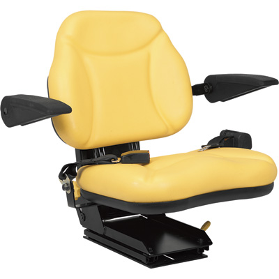 A & I Products Big Boy Suspension Tractor Seat — Yellow, Model# BBS108YL