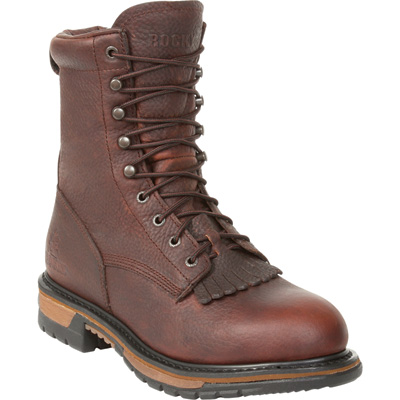 Rocky Men's Waterproof Steel Toe EH Lacer Work Boot - Brown, Size 8, Model# 6717