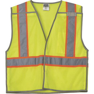 FREE SHIPPING — Gravel Gear Men's Class 2 High Visibility Breakaway Vest — Lime, Size Small/Medium