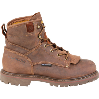 FREE SHIPPING — Carolina Men's 6in. Waterproof Composite Toe Work Boots - Brown, Size 13 XXW, Model# CA7528