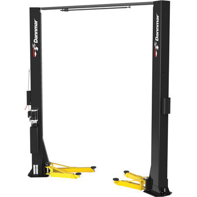 """FREE SHIPPING - Dannmar 2-Post Asymmetric Narrow Lift - 10,000Lb. Capacity, Model# Brigadier 10AC"""