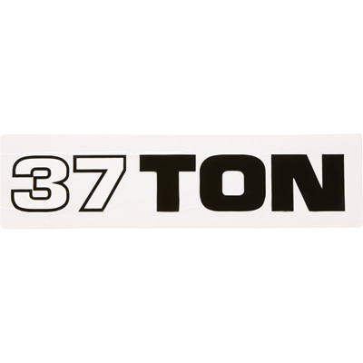 Tonnage Decal