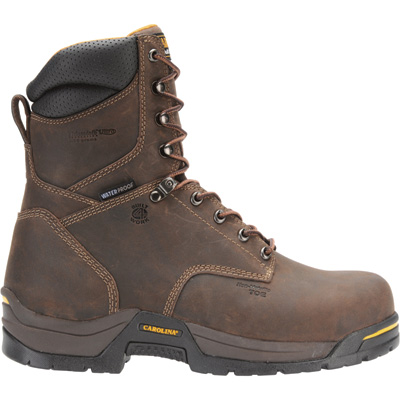 Carolina Men's 8in. Waterproof Insulated EH Work Boots - Dark Brown, Size 8 Wide, Model CA8021