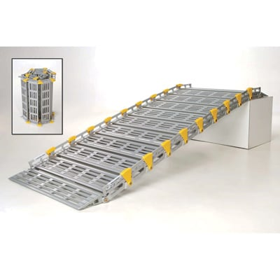 Roll-A-Ramp Roll-Away Aluminum Loading Ramp — 875-Lb. Capacity, 10ft.L x 30in.W, Model# A13009A19
