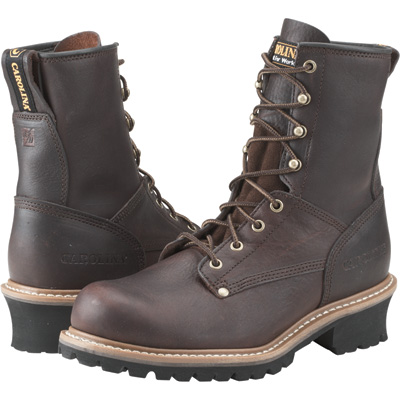 Carolina Men's Logger Boot - 8in., Size 10 1/2 Wide, Brown, Model# 821