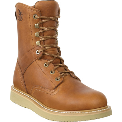 Georgia Men's 8in. Wedge Steel Toe EH Work Boots - Barracuda Gold, Size 9, Model# G8342