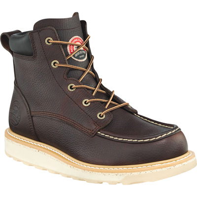 FREE SHIPPING — Irish Setter by Red Wing Men's 6in. Waterproof Aluminum Moc Toe Work Boots - Brown, Size 11 Wide
