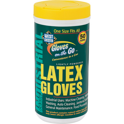 West Chester Latex Gloves On The Go - Latex
