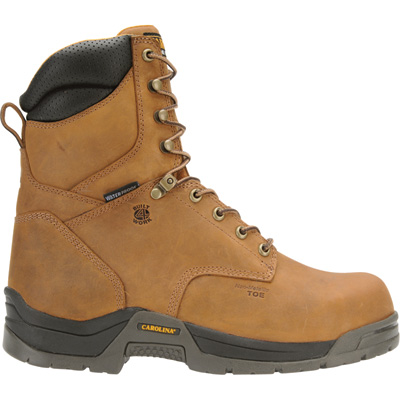 Carolina Men's 8in. Waterproof Composite Safety Toe EH Work Boots - Copper, Size 8 1/2, Model# CA8520