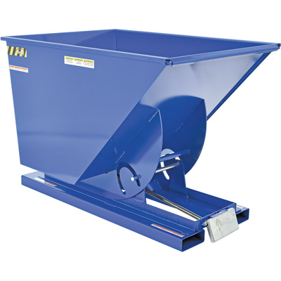 Vestil Self-Dumping Steel Hopper — Bumper Release, 6000-lb. Capacity, 1 Cubic Yard Volume, Model# D-100-HD