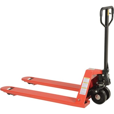 Vestil Full-Featured Pallet Truck — Steel Wheels, 5,500-lb. Capacity, 48in.L x 27in.W Overall Fork, Model# PM5-2748-S