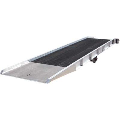 Vestil Yard Ramp — Aluminum with Steel Grating, 20,000-Lb. Capacity, 36-ft.L x 86in.W, Model# SY-208436-L