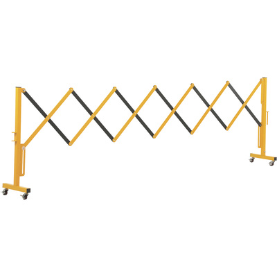Vestil Expand-A-Gate with Casters — Steel, 11.5ft., Expanded Width, Model# EXGATE-30-C