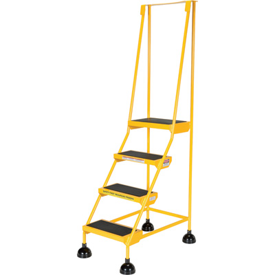 """Vestil Commercial Rolling Ladder - Spring Loaded, 4 Steps, 300-Lb. Capacity, Model# LAD-4-Y"""