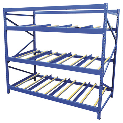 Vestil Carton Flow Rack — 3 Flow Levels, 96in.W, 36in.D, 1,000-Lb. Capacity, Model# FLOW-3-3
