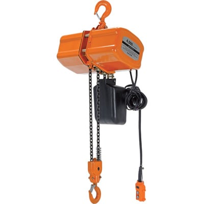 Vestil Economy Chain Hoist with Chain Container — 4,000-Lb. Capacity, Model# H-4000-1
