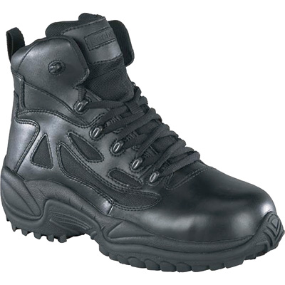 Reebok Men's Rapid Response 6in. Composite Toe Zip Boot - Black, Size 7 1/2 Wide, Model# RB8674