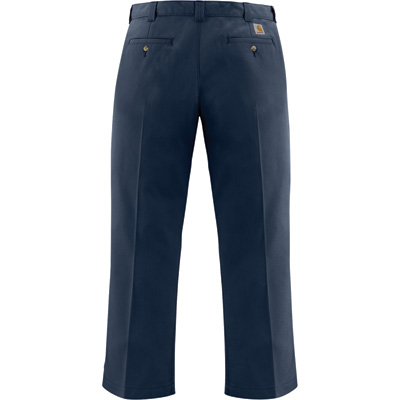 Carhartt Men's Twill Work Pant - Navy, 32in. Waist x 30in. Inseam, Regular Style, Model# B290