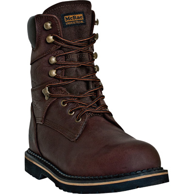 McRae Men's 8in. Ruff Ryder Work Boots - Dark Brown, Size 14, Model# MR88144