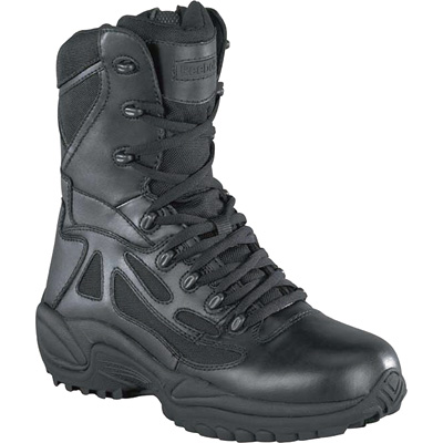 FREE SHIPPING — Reebok Men's Rapid Response 8in. Composite Toe Zip Boot - Black, Size 7 1/2 Wide, Model# RB8874