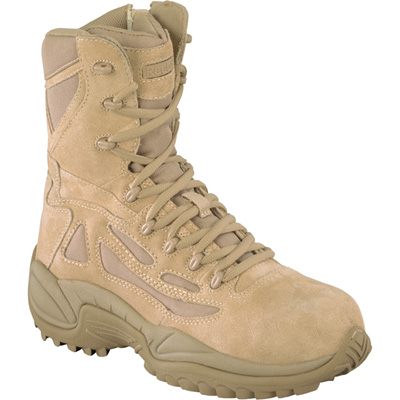 FREE SHIPPING — Reebok Men's Rapid Response 8in. Composite Toe Zip Boot - Desert Tan, Size 8 Wide, Model# RB8894