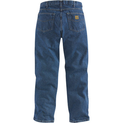 Carhartt Men's Relaxed Fit Straight Leg Jean - Stonewash, 48in. Waist x 32in. Inseam, Regular Style, Model# B17