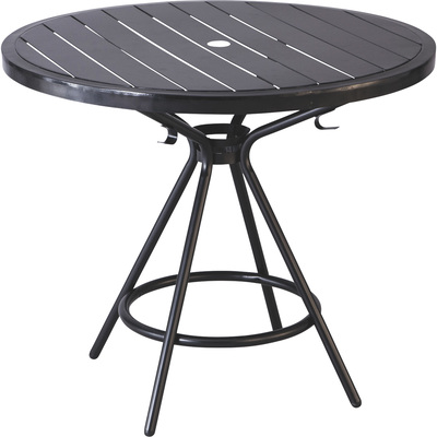 Mayline Safco CoGo Steel Outdoor/Indoor Table — 36in. Round, Black, Model# 4362BL