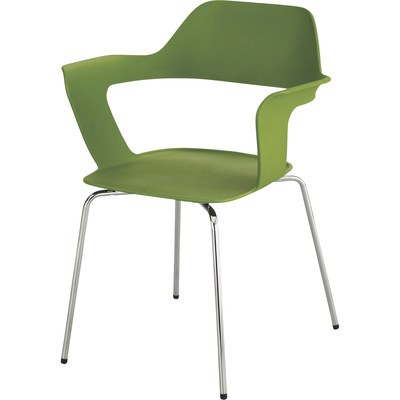 Mayline Safco Bandi Shell Stack Chairs — Set of 2, Green, Model# 4275GN