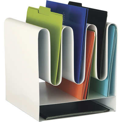 Mayline Safco Desktop File Organizer with 7 Vertical Sections — White, Model# 3223WH